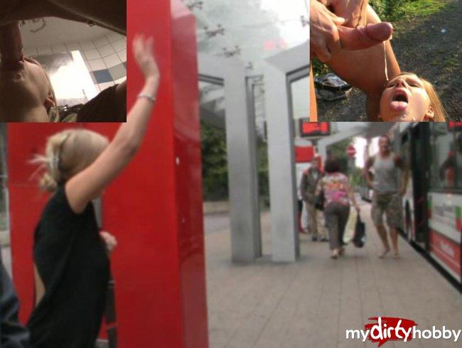 Sex am Busbahnhof, von der Polizei erwischt...