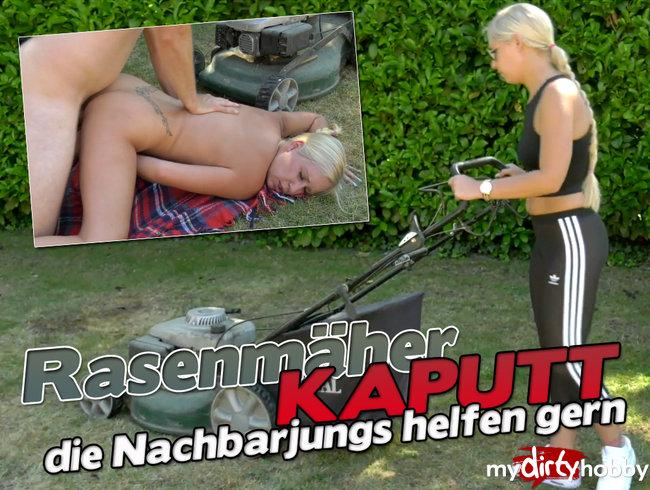 Rasenmäher KAPUTT - Die Nachbarjungs helfen gern